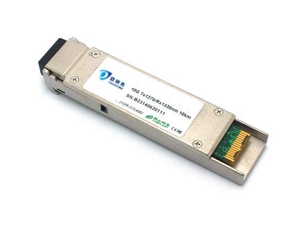 XFP, 10G, single fiber, 10KM, LC, DDM (OXBLXG10D-23/32)