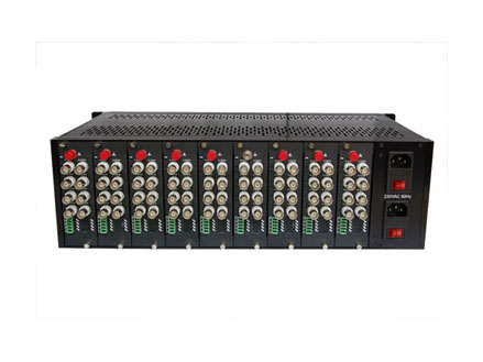 """19"""" 3U, 18 Slots Video Converter  Rack (OM1918)"""